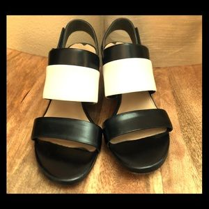 Via Spiga Black and White Heels